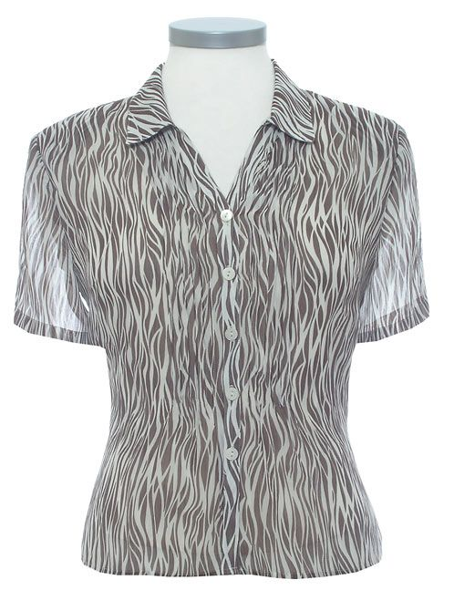 Eastex Animal stripe blouse
