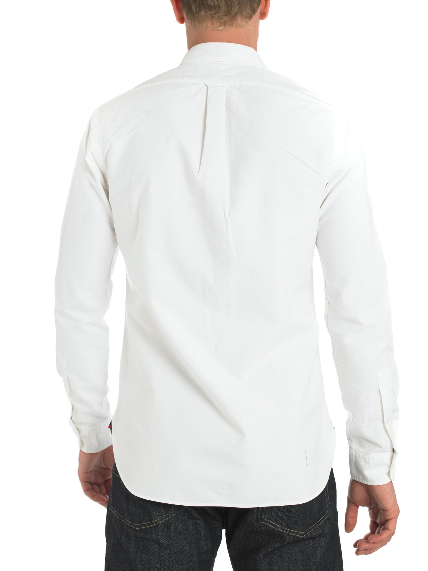 Long sleeved slim fit oxford shirt