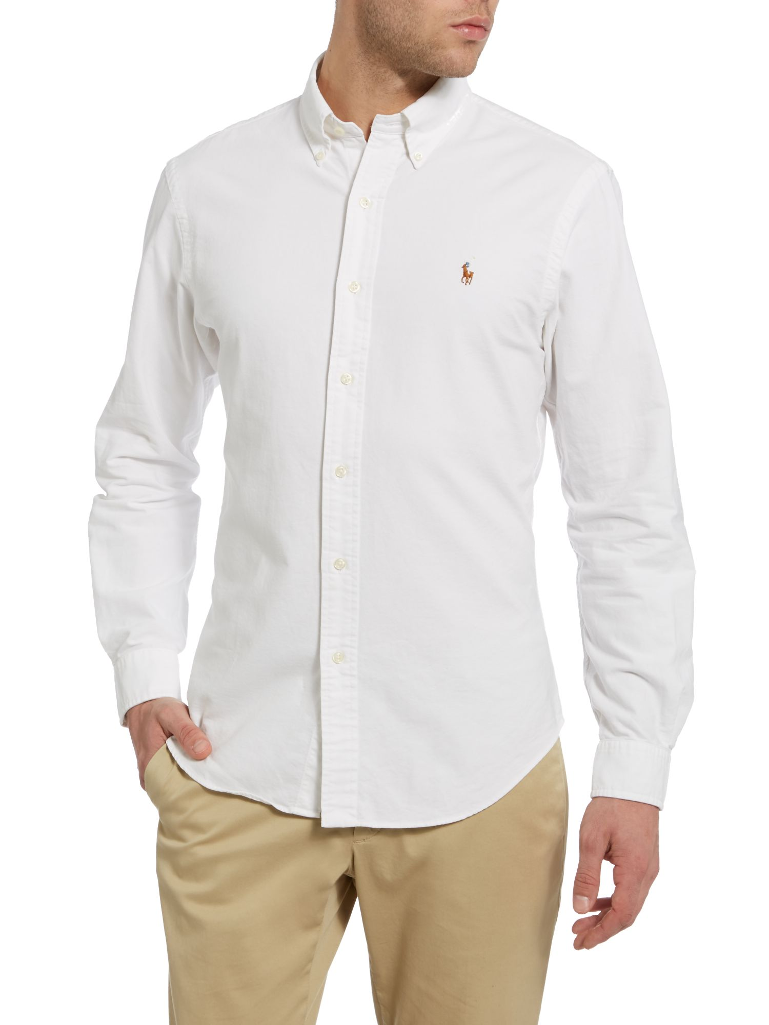 ... Polo Ralph Lauren Long-sleeve slim-fit oxford shirt