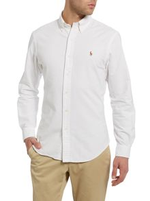 Long-sleeve slim-fit oxford shirt