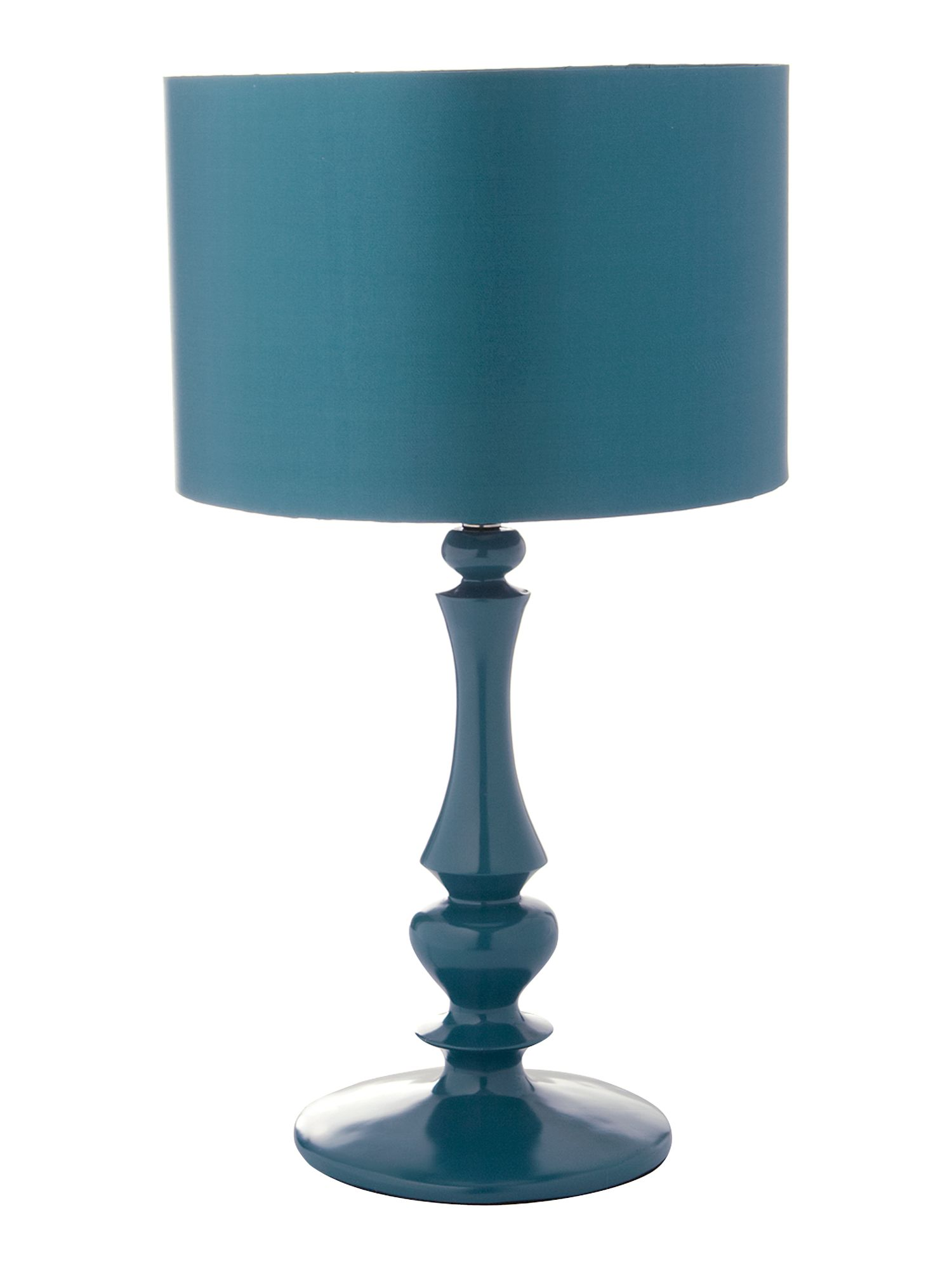 Teal Table Lamps on Sophie Teal Turned Table Lamp