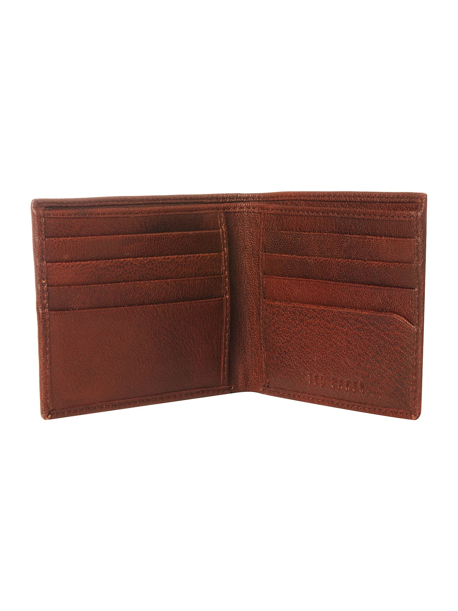 Ted Baker Burnished bilfold wallet Chocolate product image