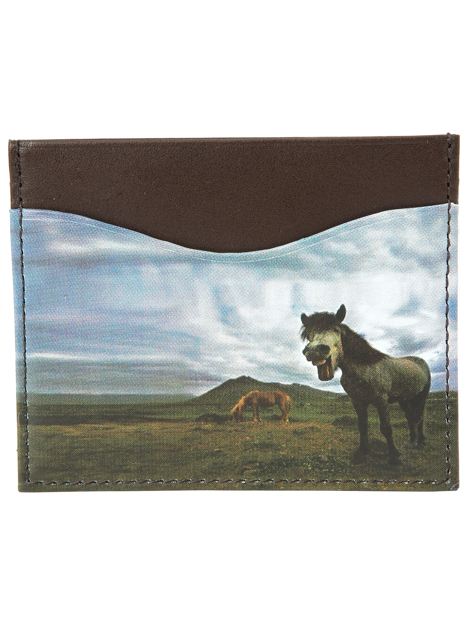Ted Baker Credit card holder with pony insert Chocolate product image