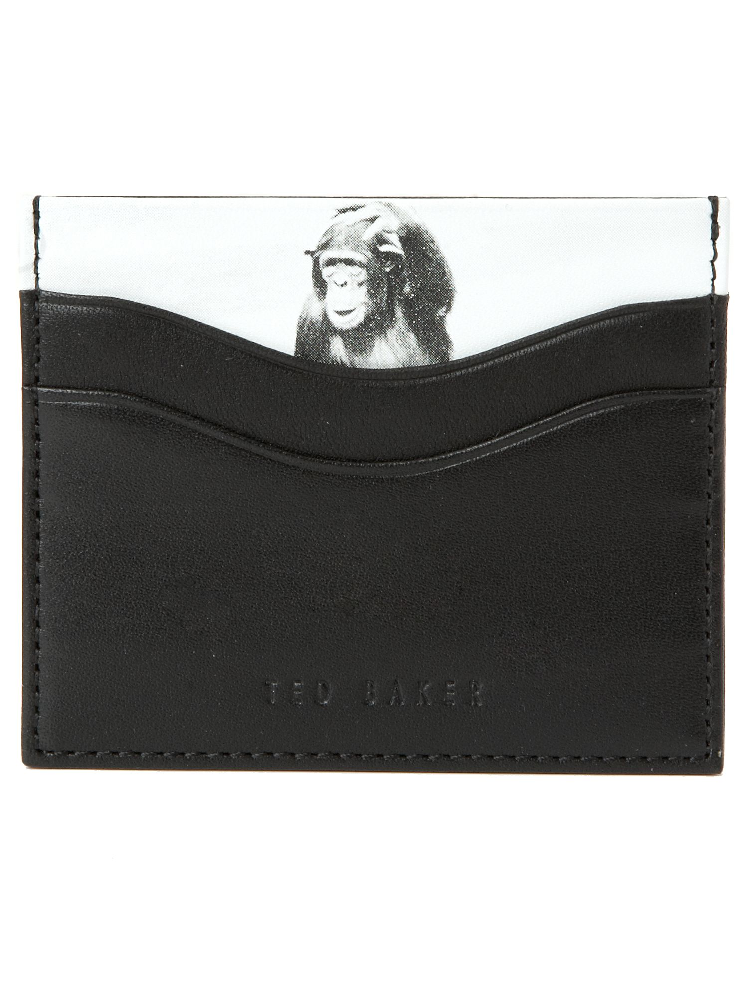 Ted Baker Credit card holder with monkey print insert Black product image