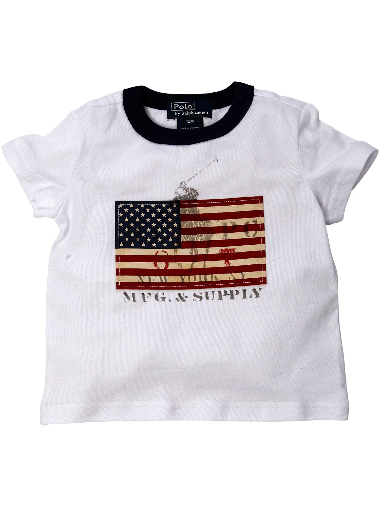 Ralph Lauren Short-sleeved flag front T-shirt product image