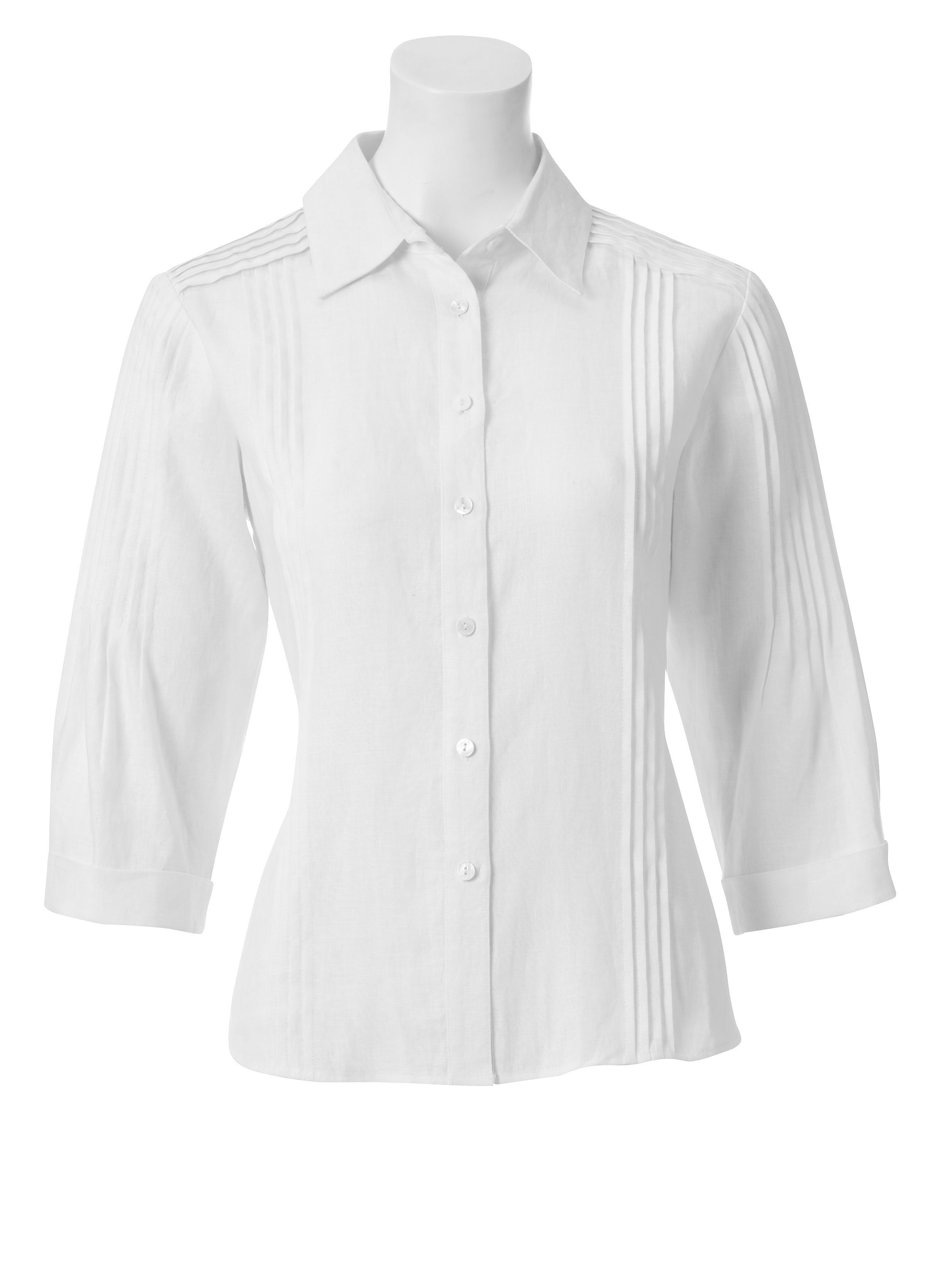 Paul Costelloe Pintuck detail blouse White product image
