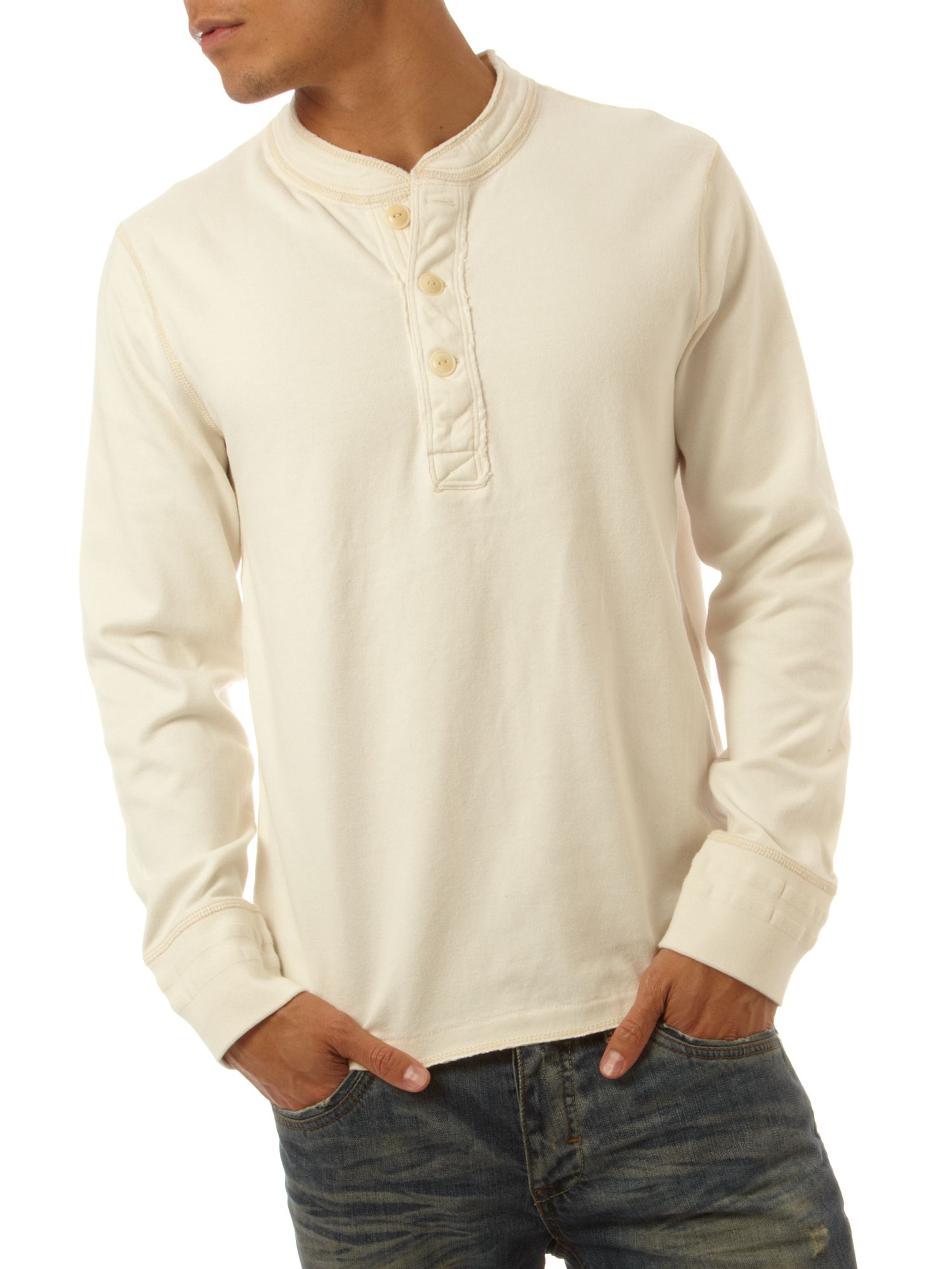 Polo Jeans Long sleeve henley T-shirt Cream product image