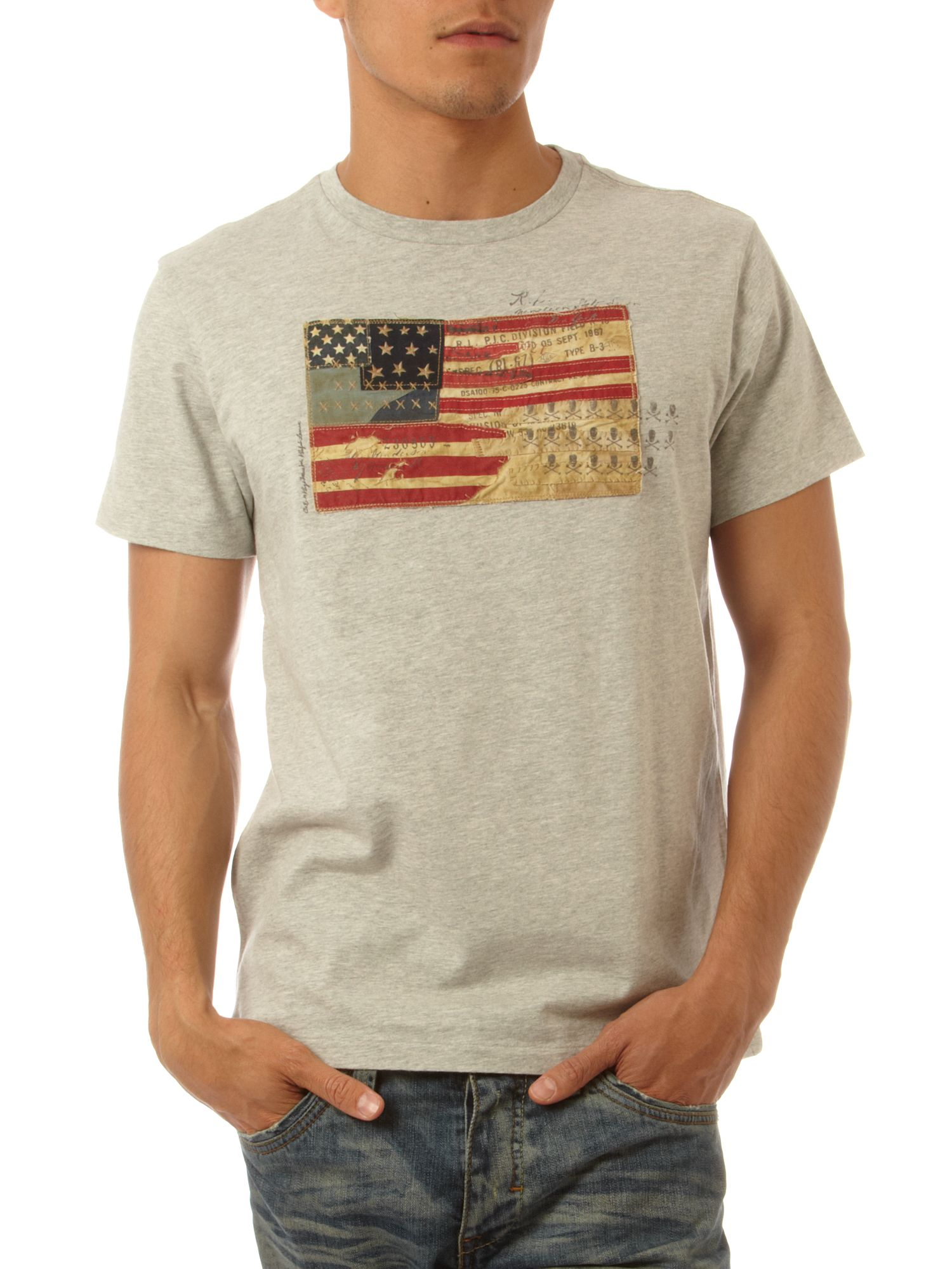 Polo Jeans Large flag T-shirt Grey product image