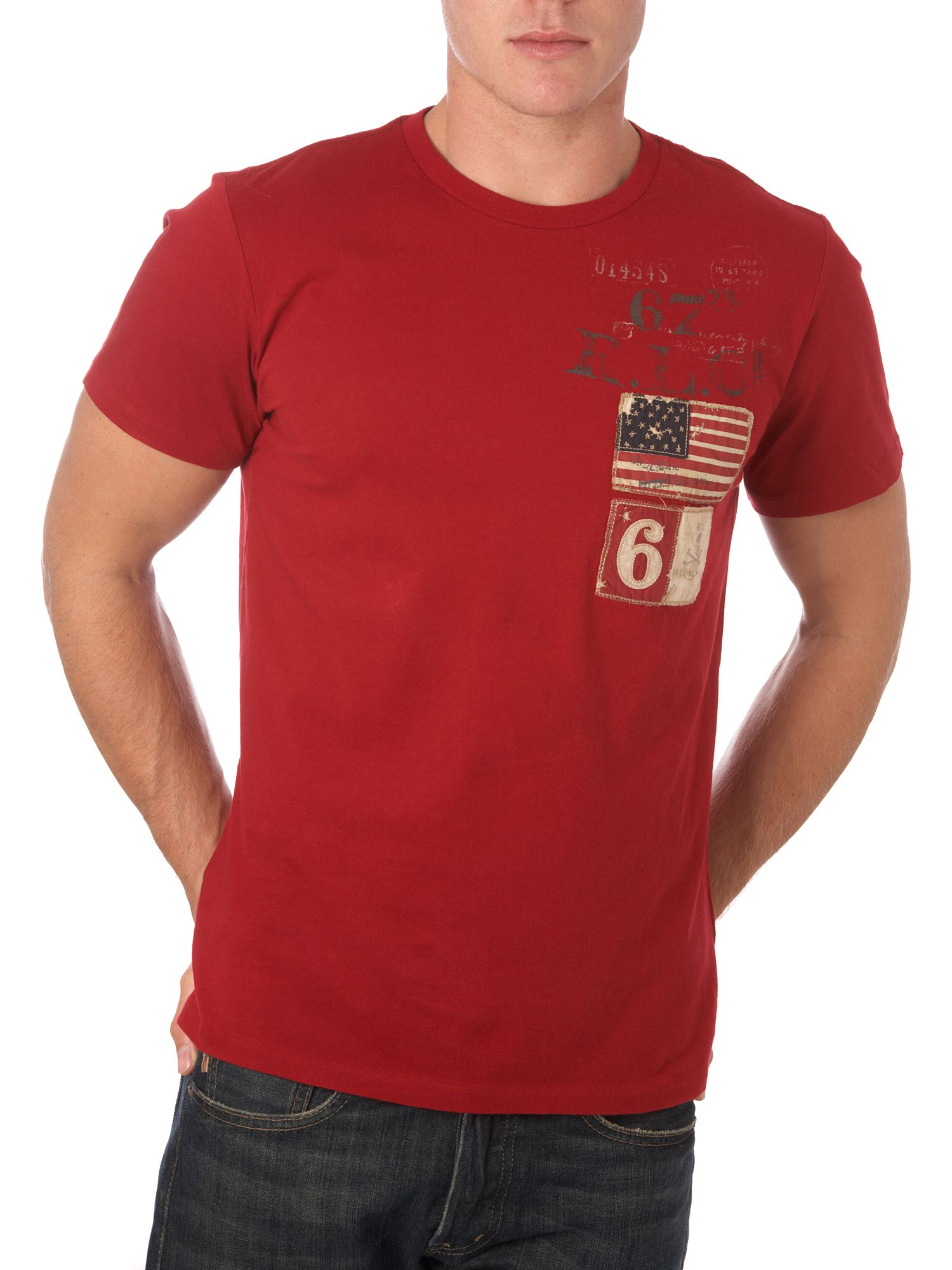 Polo Jeans Two flags T-shirt Red product image