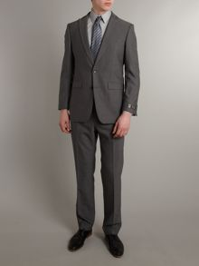Single breasted grey sharkskin suit