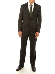 Simon Carter Single breasted notch grey stripe suit