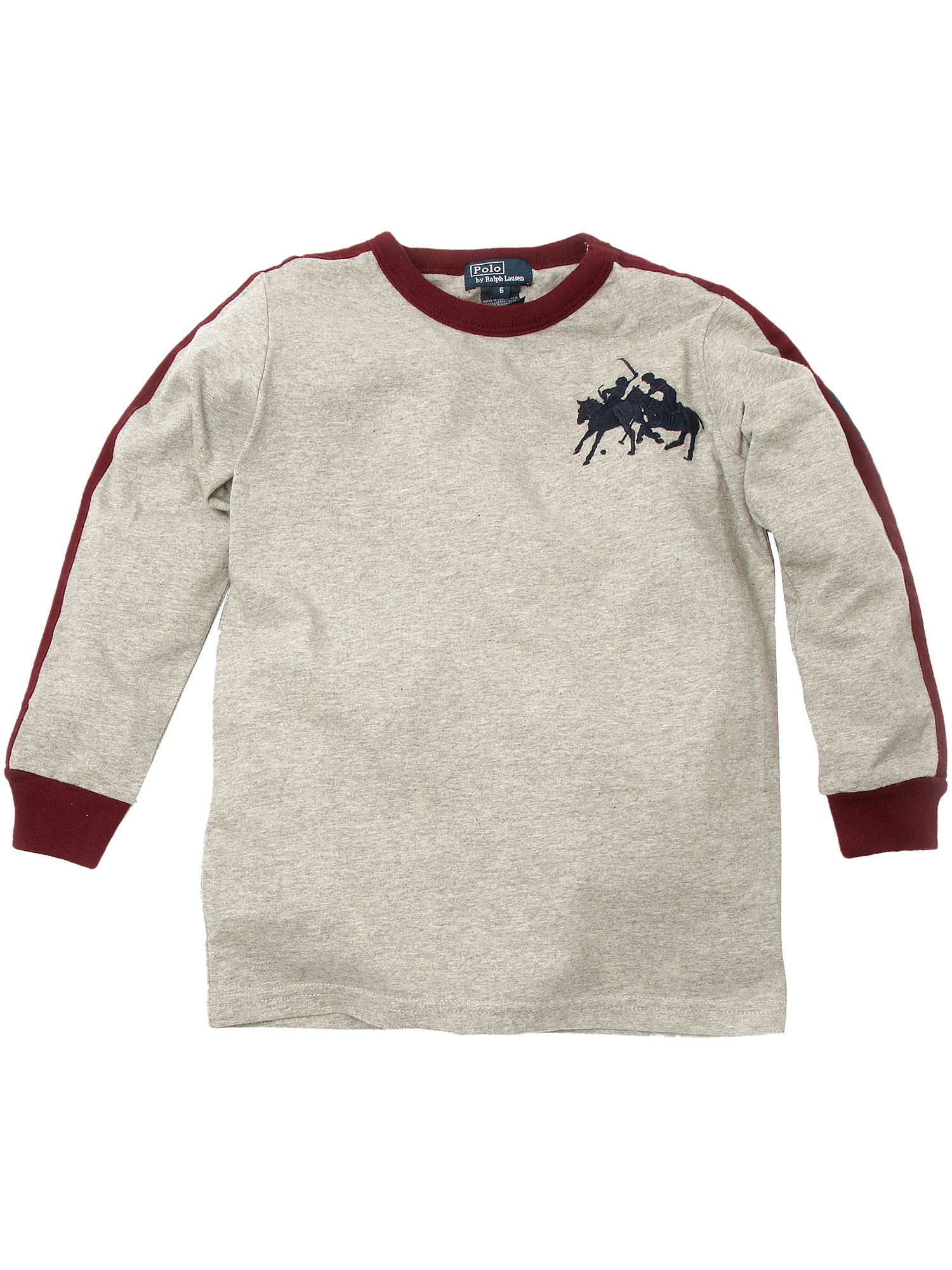 Ralph Lauren Lon-sleeved stampede logo T-shirt Light Grey product image