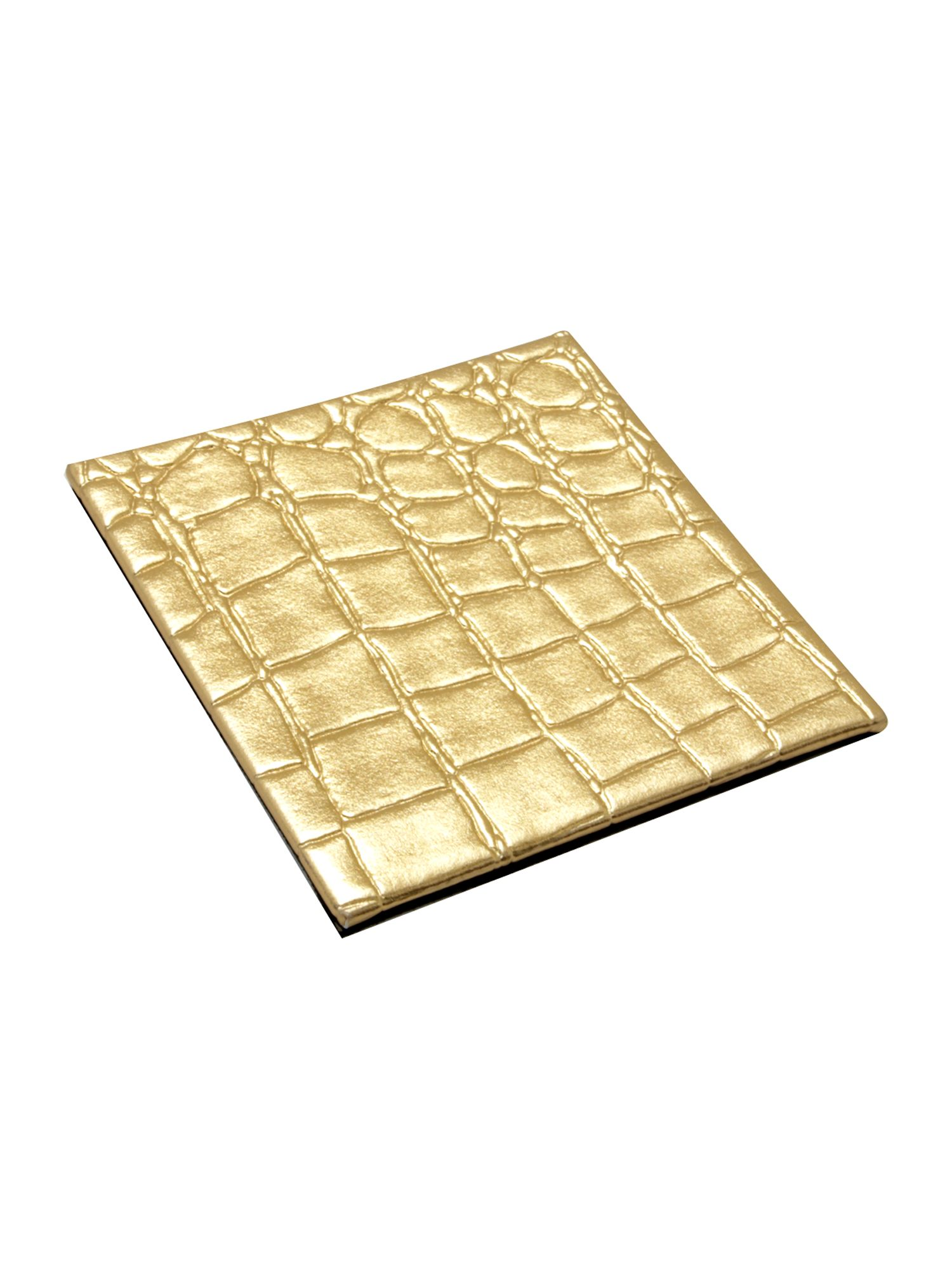 Gold mock croc set of 4 coasters