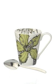 Llewelyn Bowen bone china mug & spoon Mustique