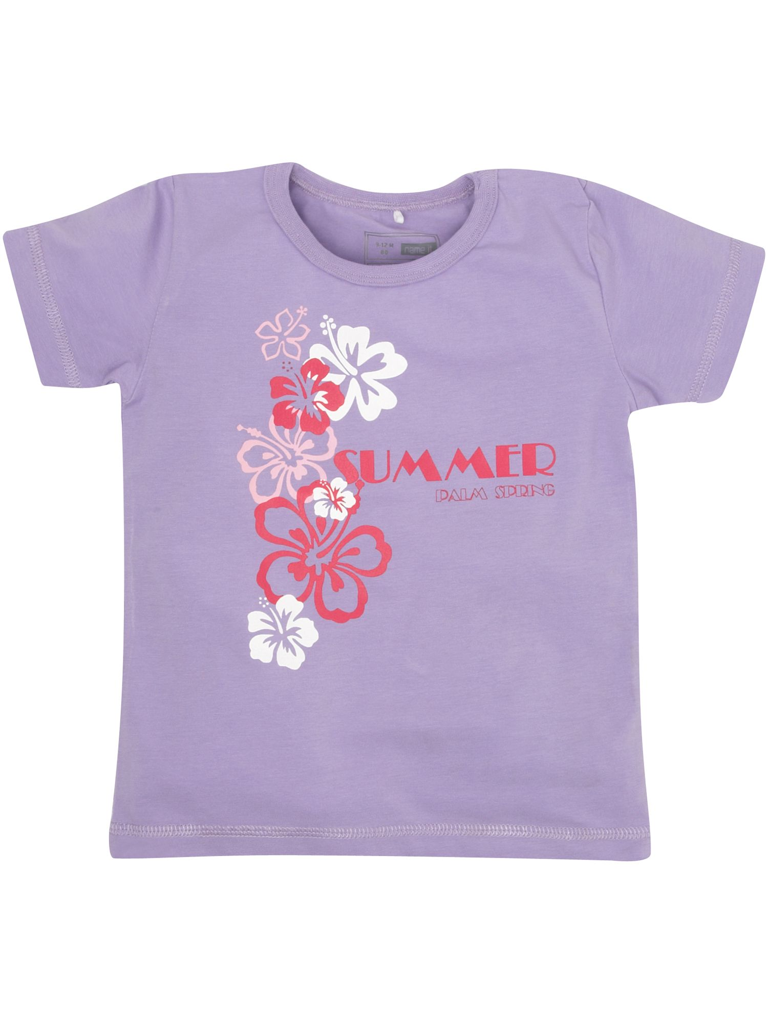 name it Short-sleeved flower printed T-shirt, product image