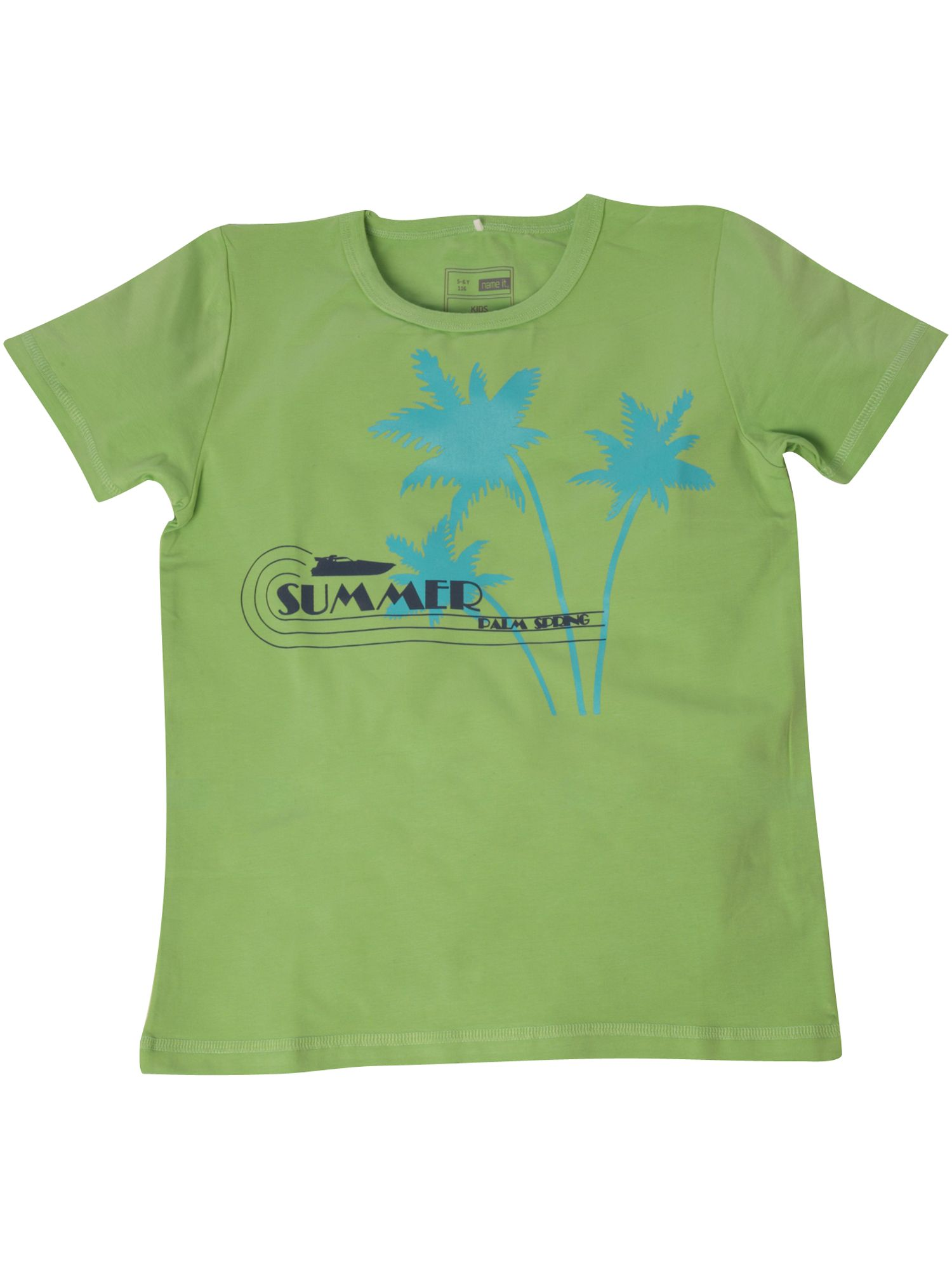 name it Short-sleeved palm tree printed T-shirt - Green product image