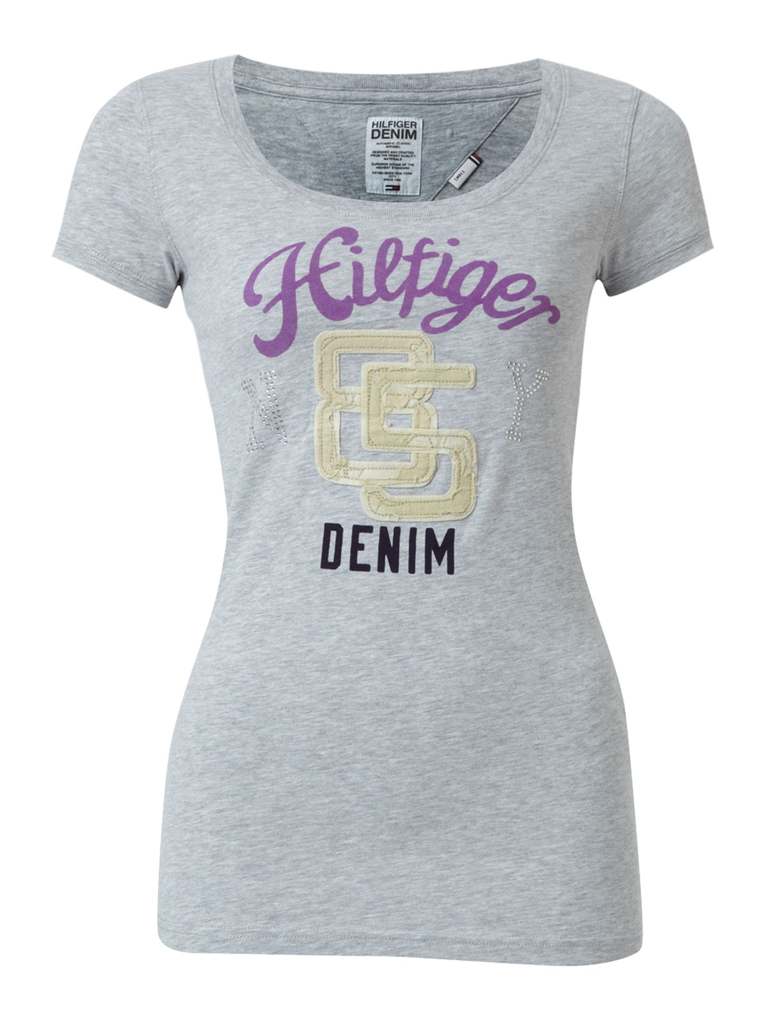 Tommy Hilfiger Lexie cotton t-shirt Grey product image