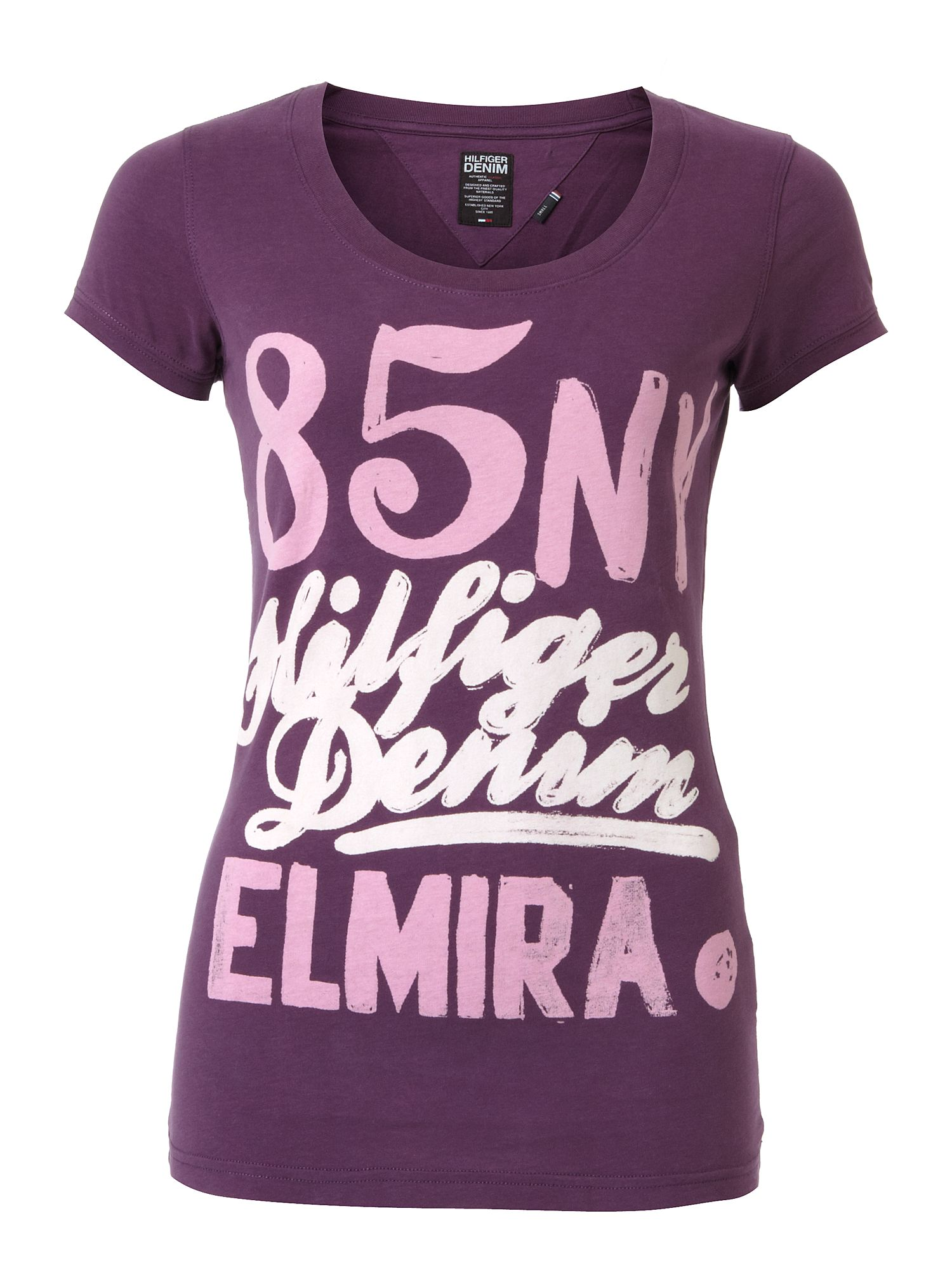 Tommy Hilfiger Lexie cotton t-shirt Purple product image