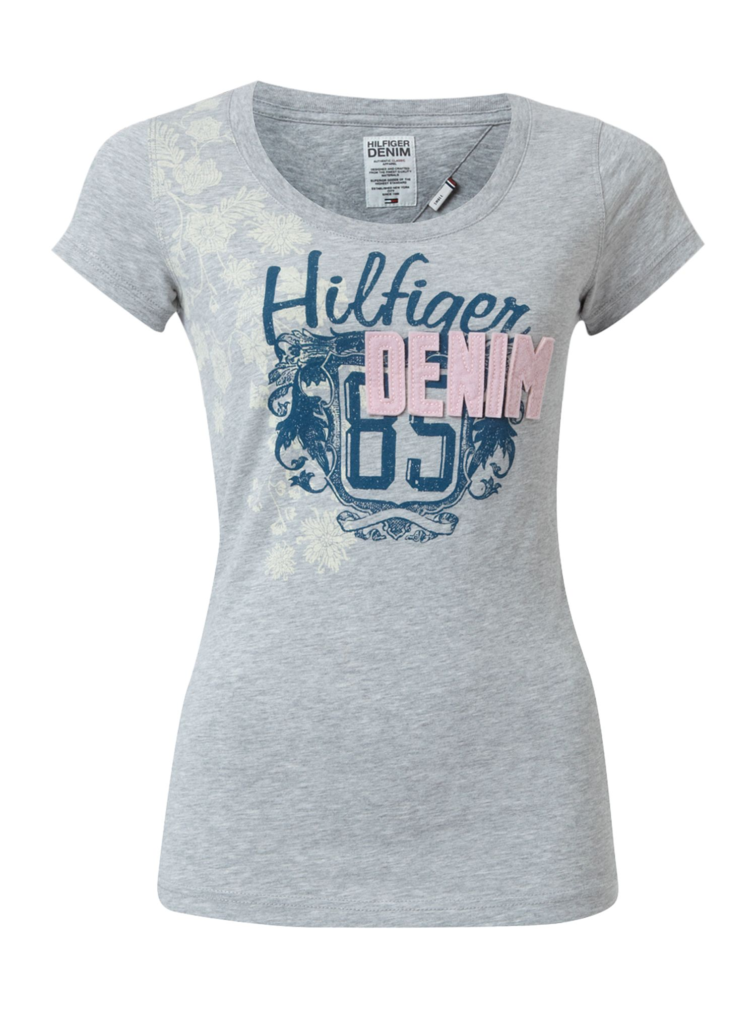 Tommy Hilfiger Elly cotton t-shirt Grey product image