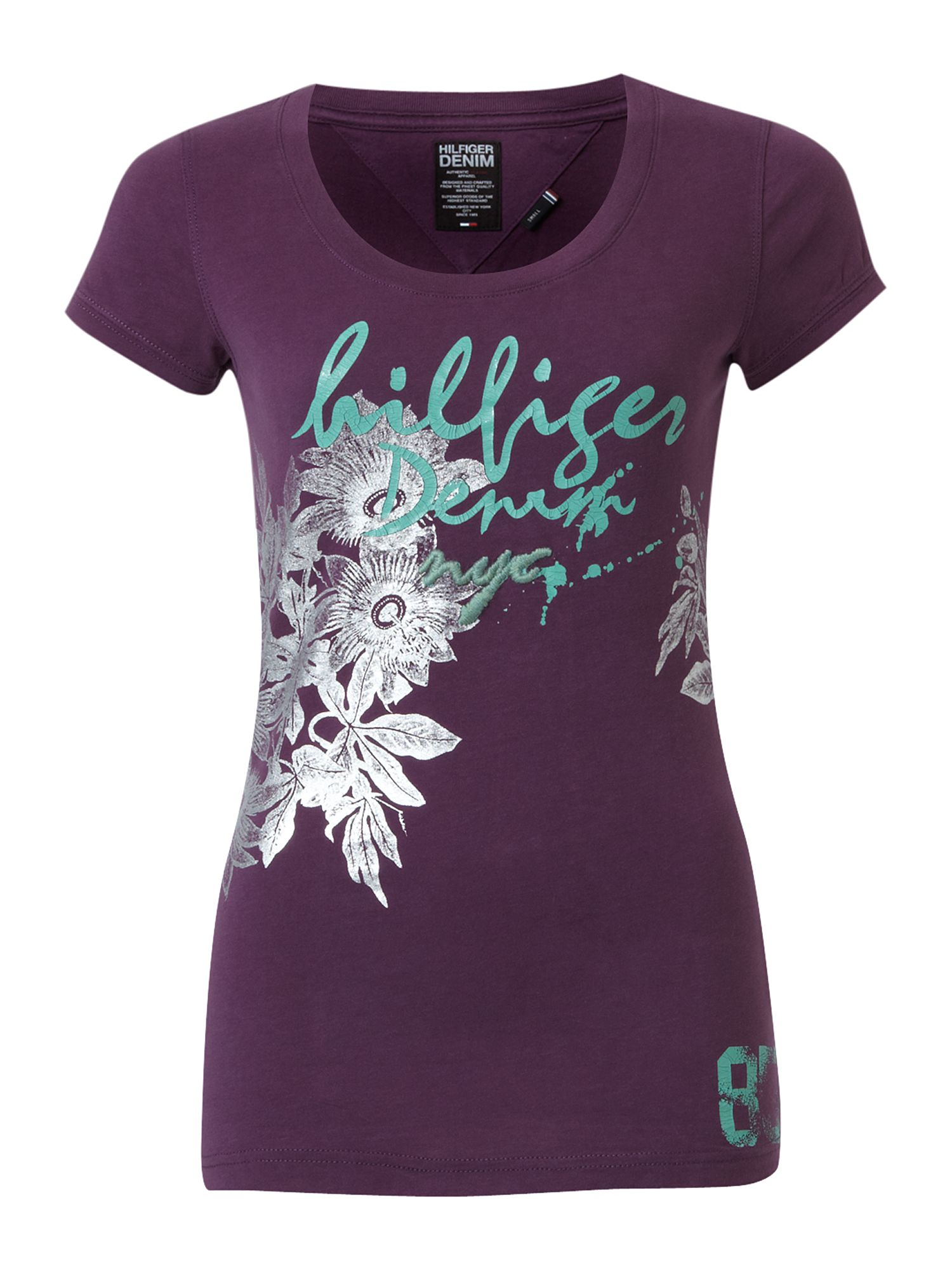 Tommy Hilfiger Elly cotton t-shirt Purple product image
