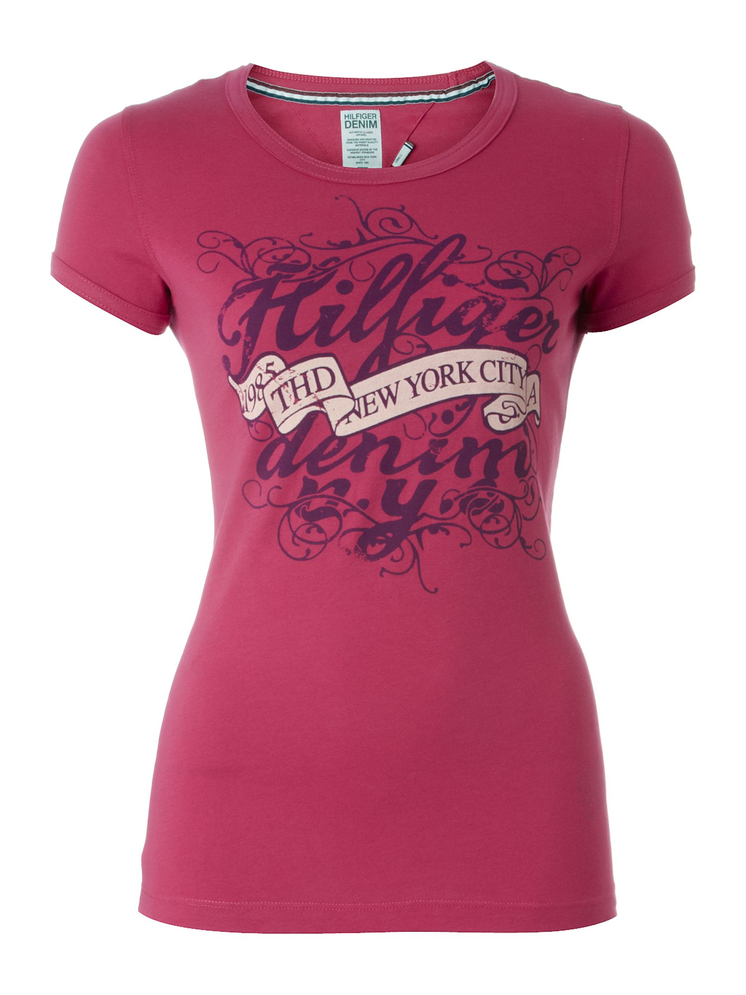 Tommy Hilfiger Lala cotton t-shirt Purple product image