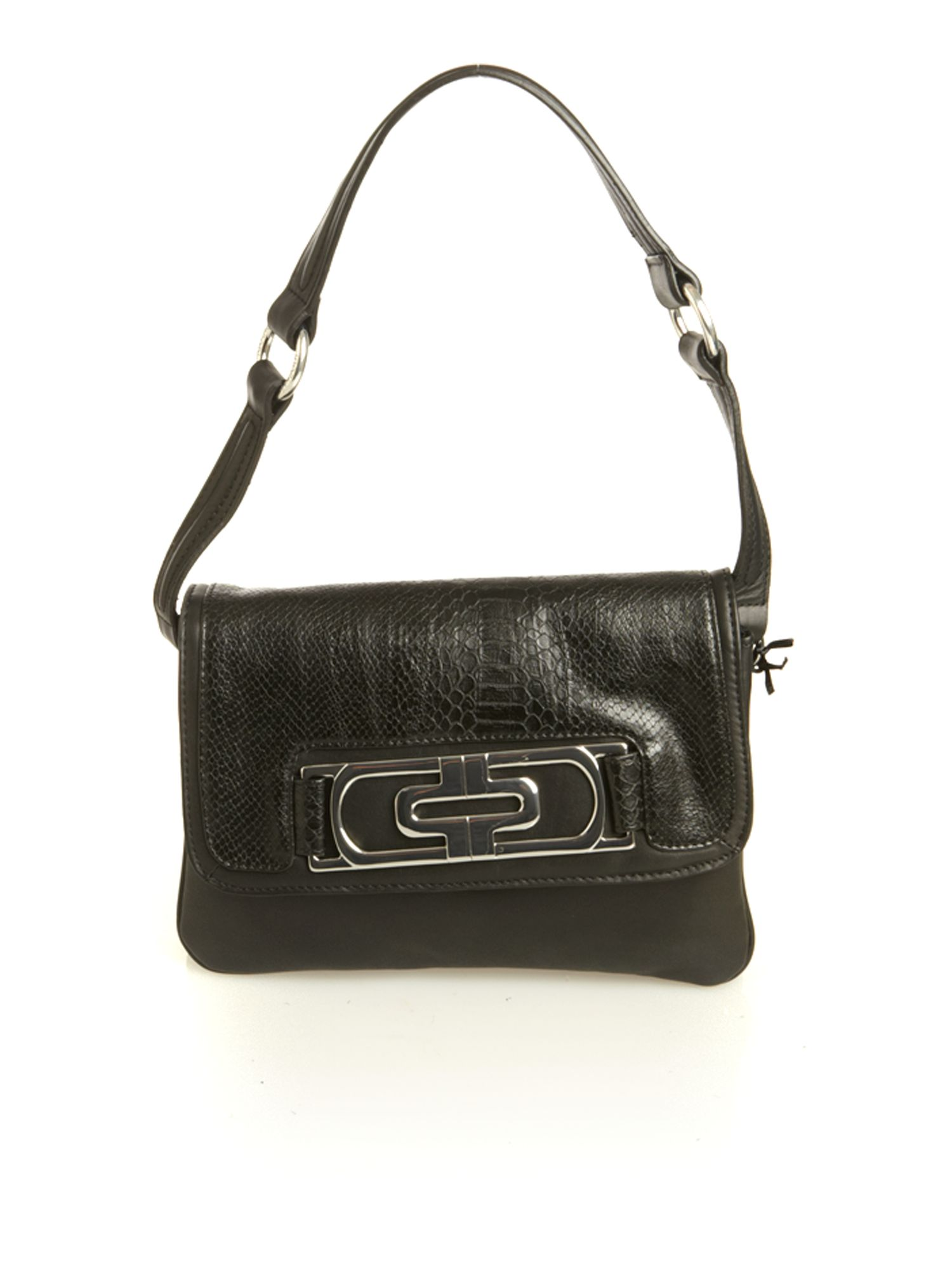 Episode Multi fabric snake trim flapover shoulder bag product image