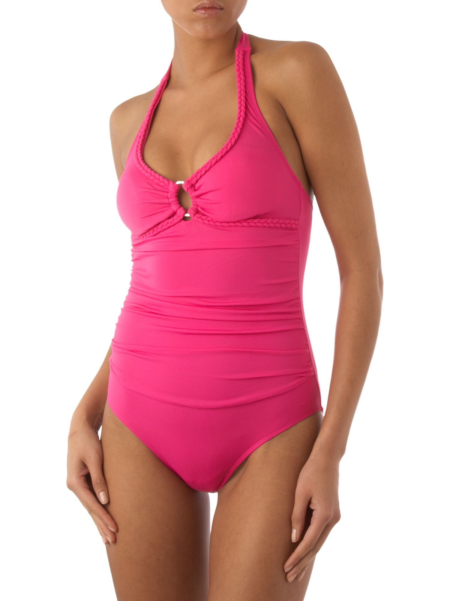 Linea Twist of Fate Plain halter swimsuit Fuchsia product image