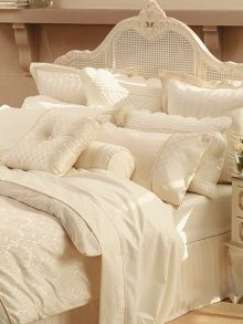 Damask coverlet