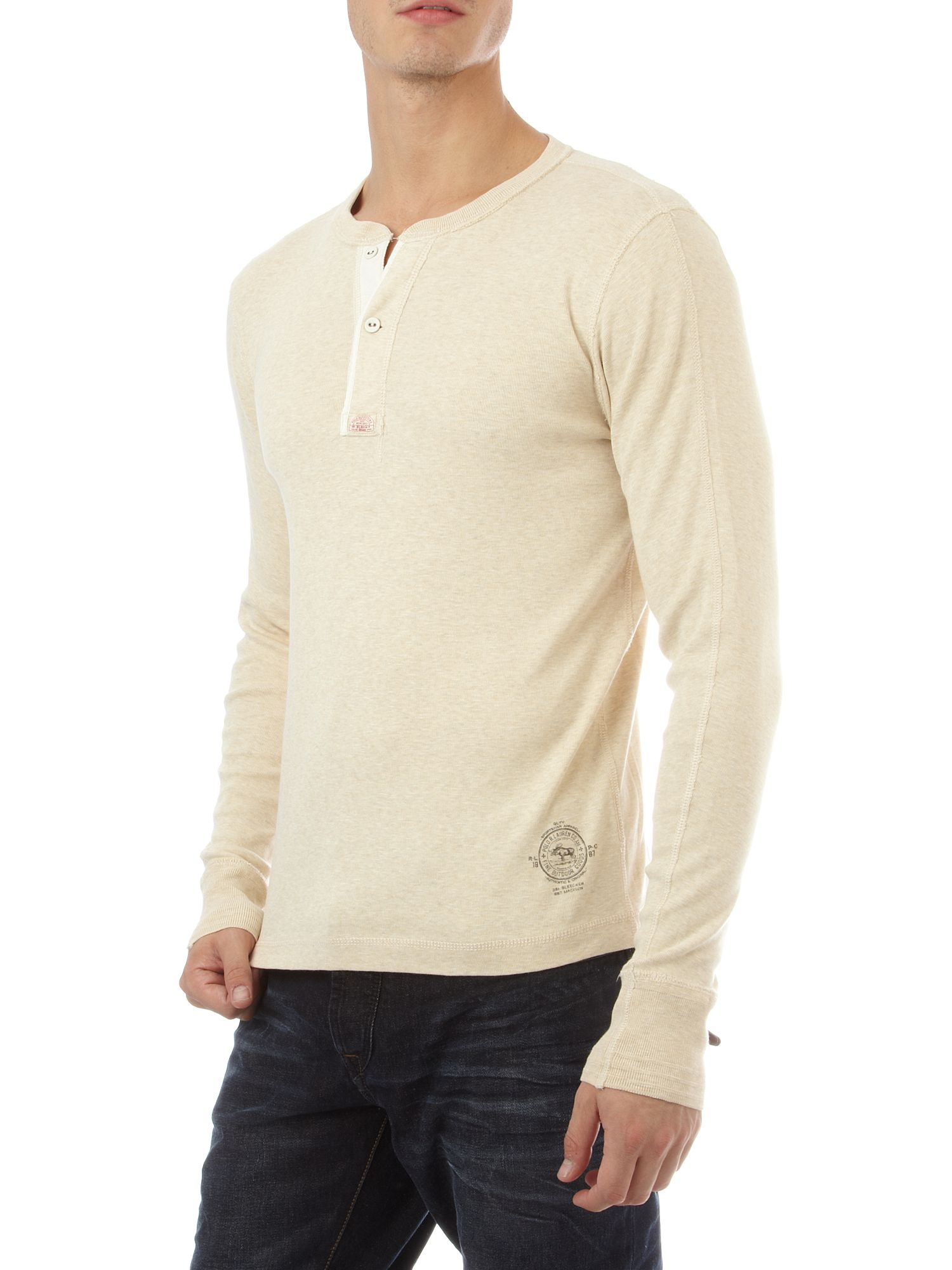 Ralph Lauren Short sleeve henley T-shirt Grey product image