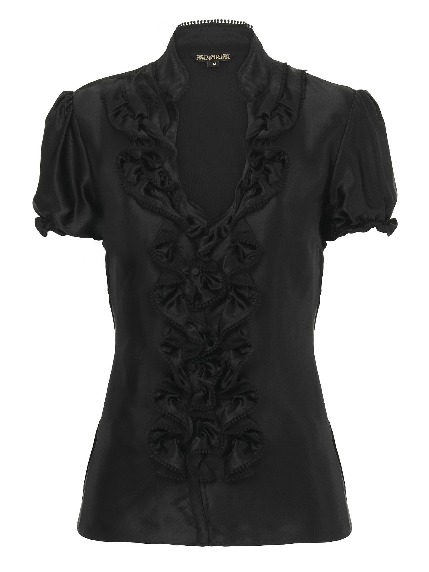 Biba Silk ruffle blouse Black product image