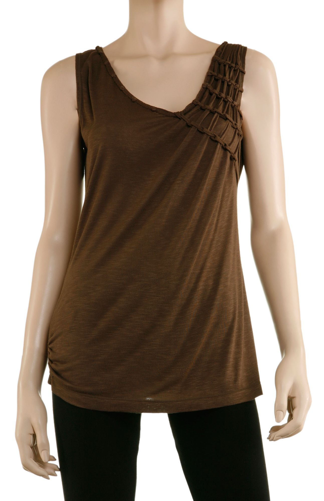 MaxStudio Asymmetrical tee Brown product image