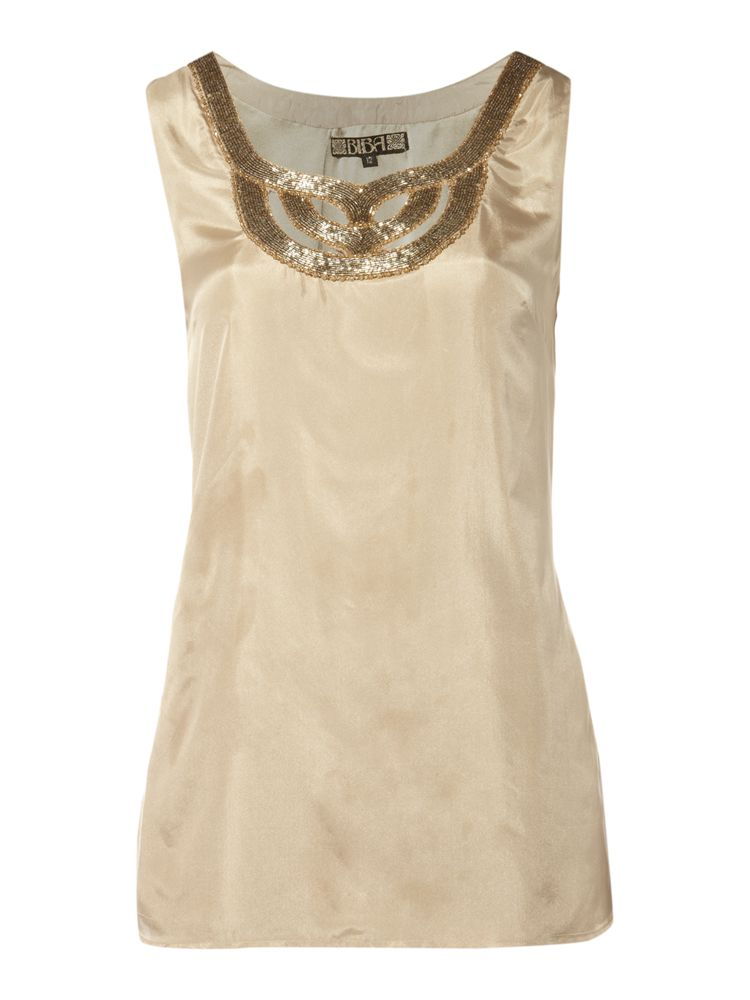 Biba-Beaded-Sleeveless-Top-In-Gold