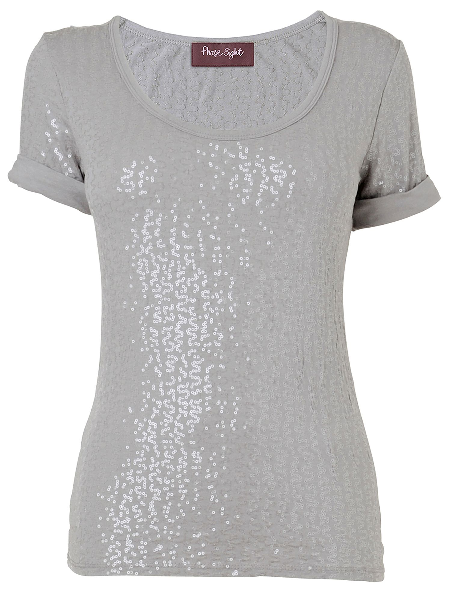 Phase Eight Sequin jersey t-shirt Grey product image