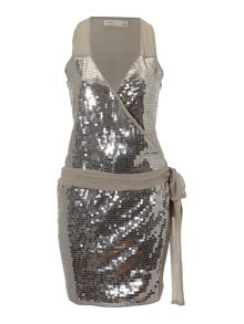 Label Lab Sequin wrap dress