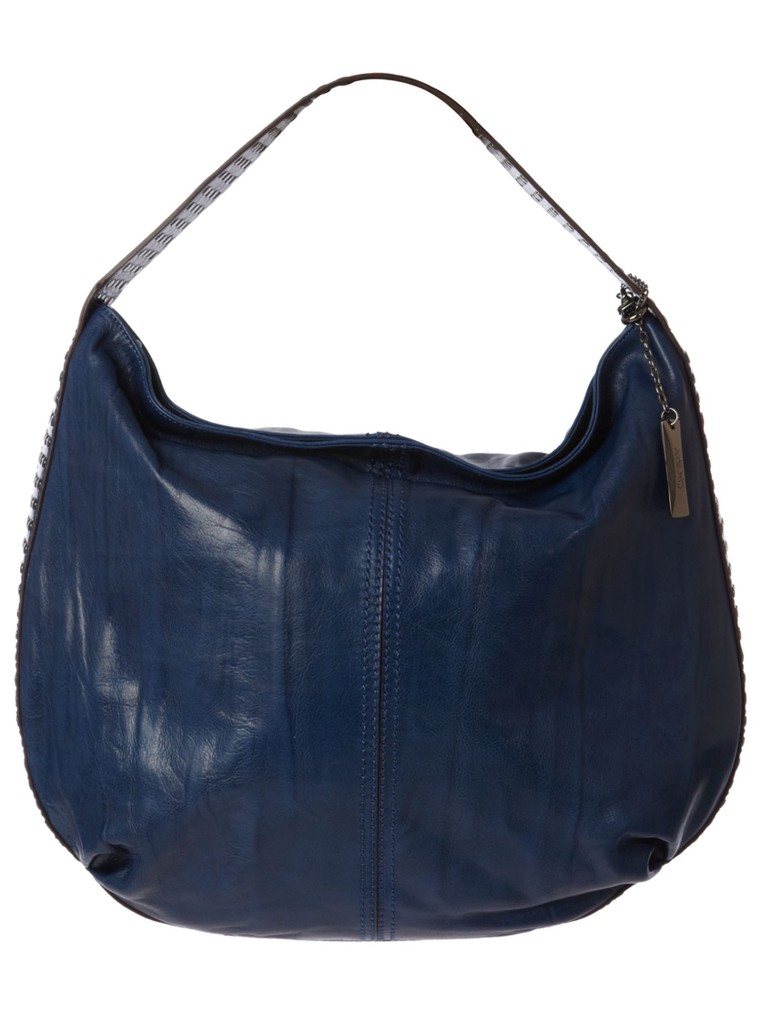 DKNY Burnished Leather Stud large leather hobo bag product image