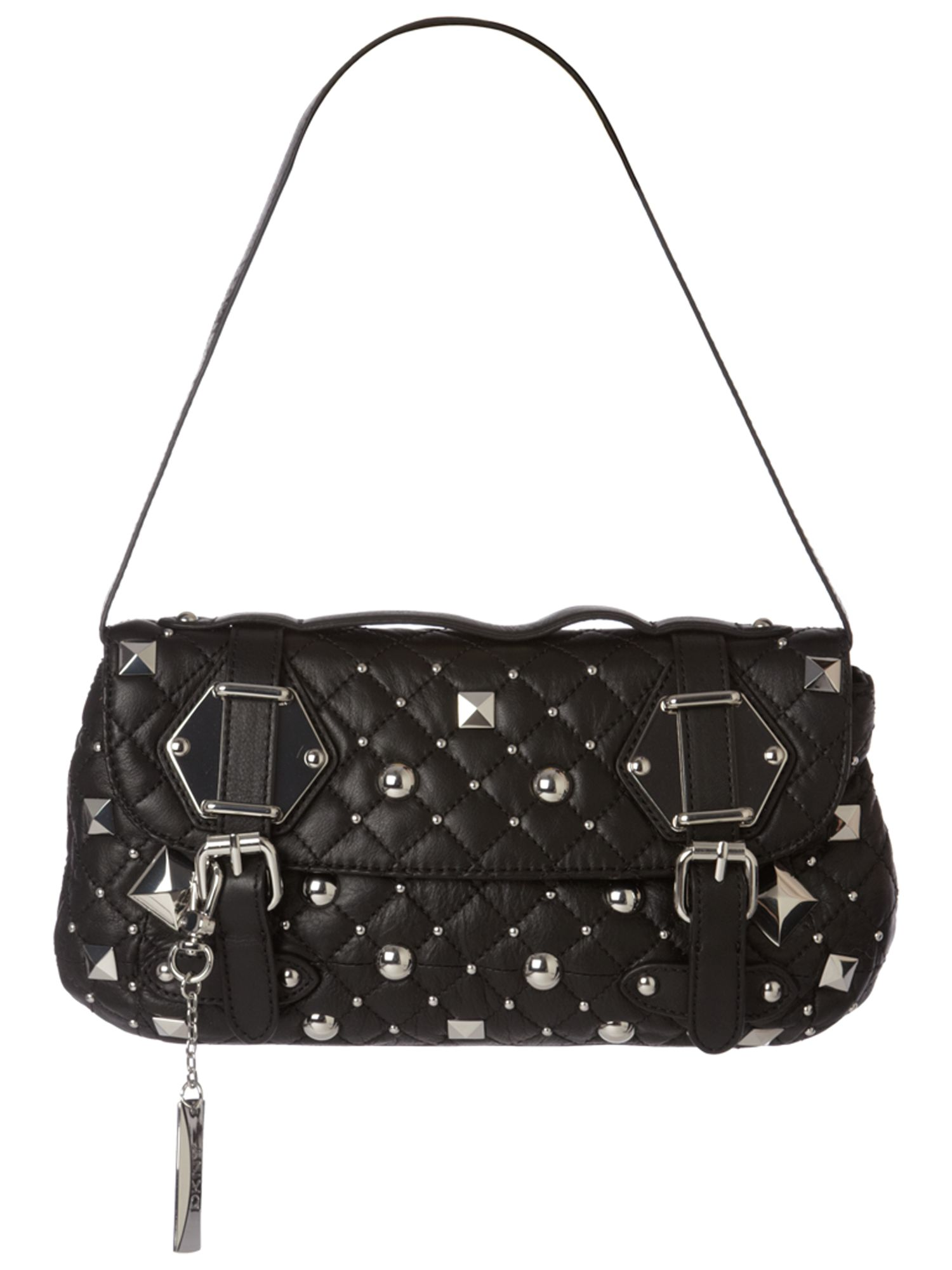DKNY Quilted Stud medium leather hobo product image