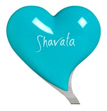Shavata Teal Heart Tweezer