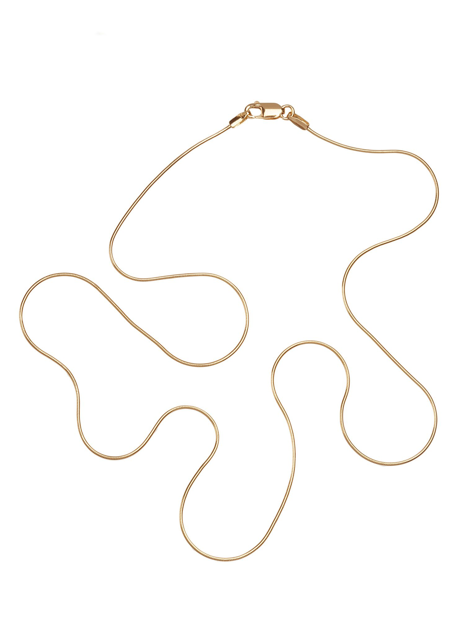 Goldsmiths 9ct gold 18 inch snake chain, product image