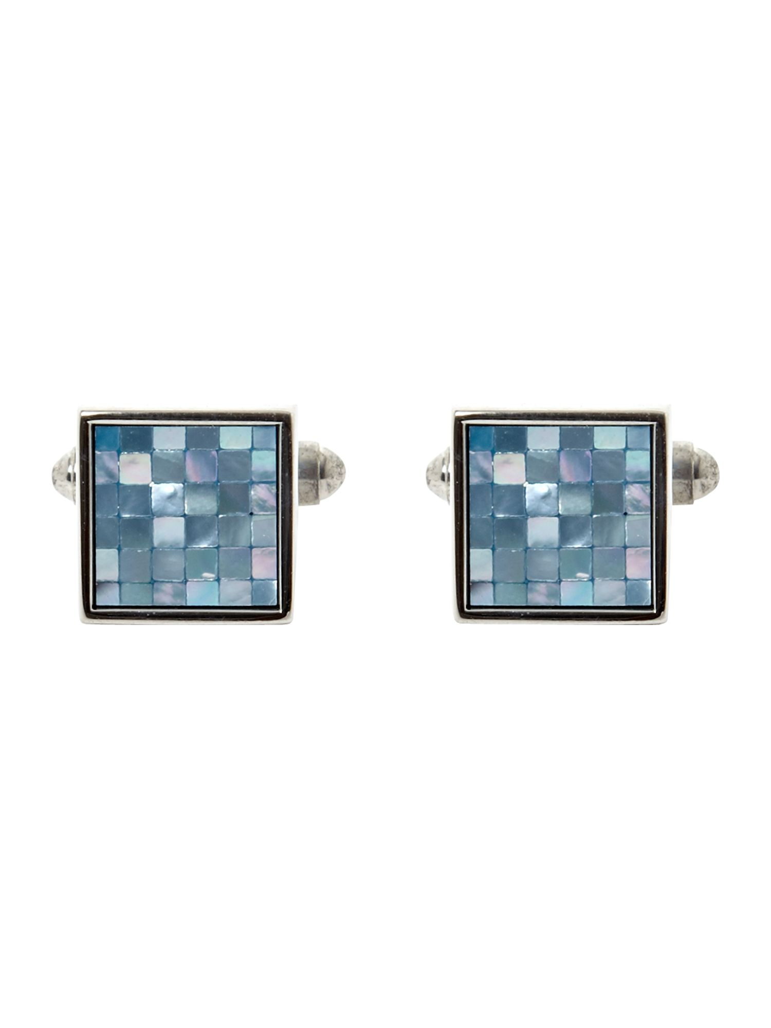 Mother of pearl checker cufflinks