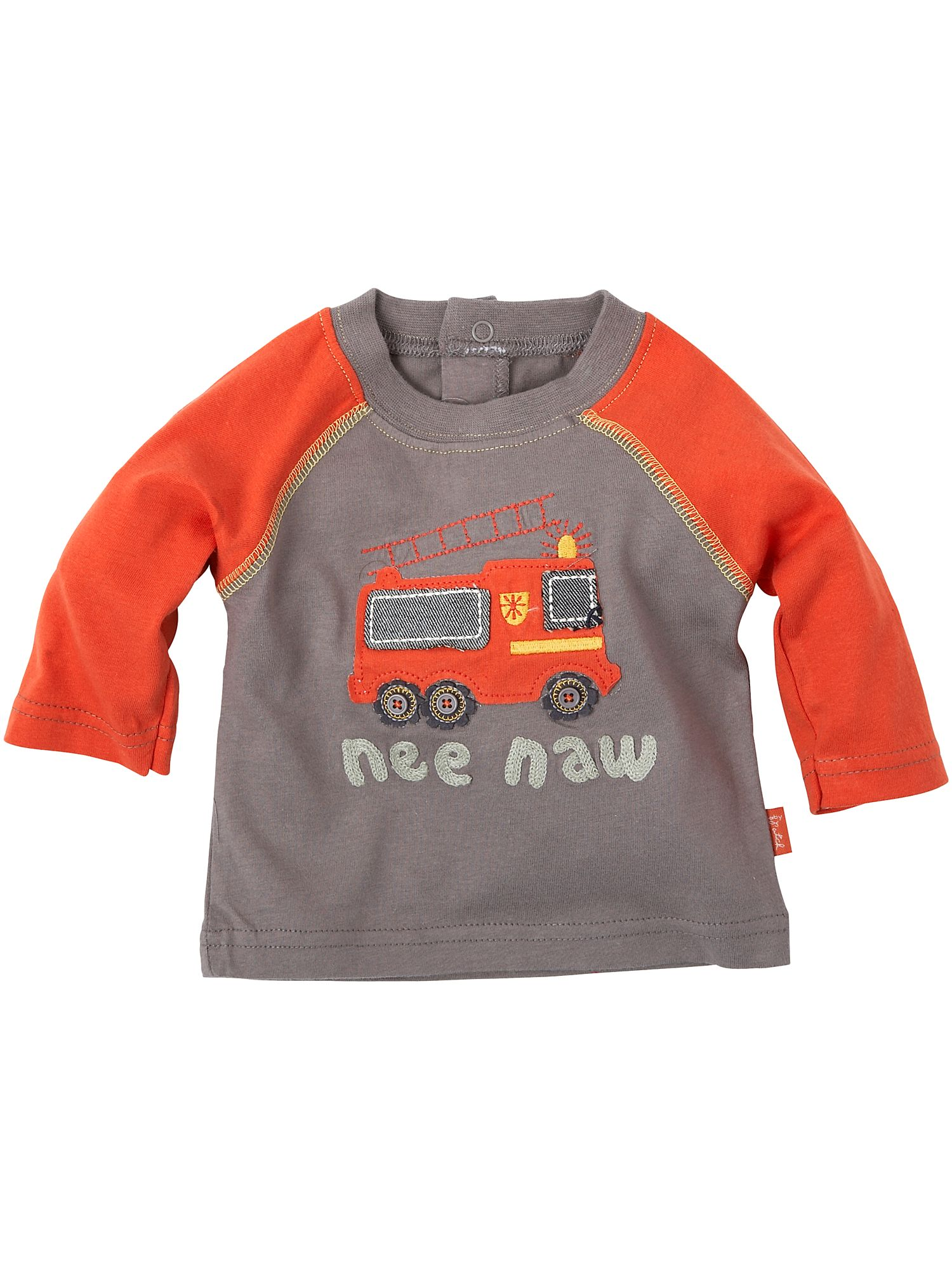 Pumpkin Patch Long-sleeved fire engine printed T-shirt Brown product image