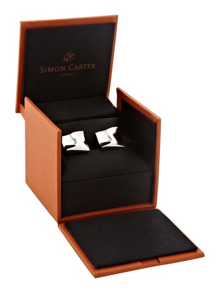 Simon Carter Warped Square Cufflinks