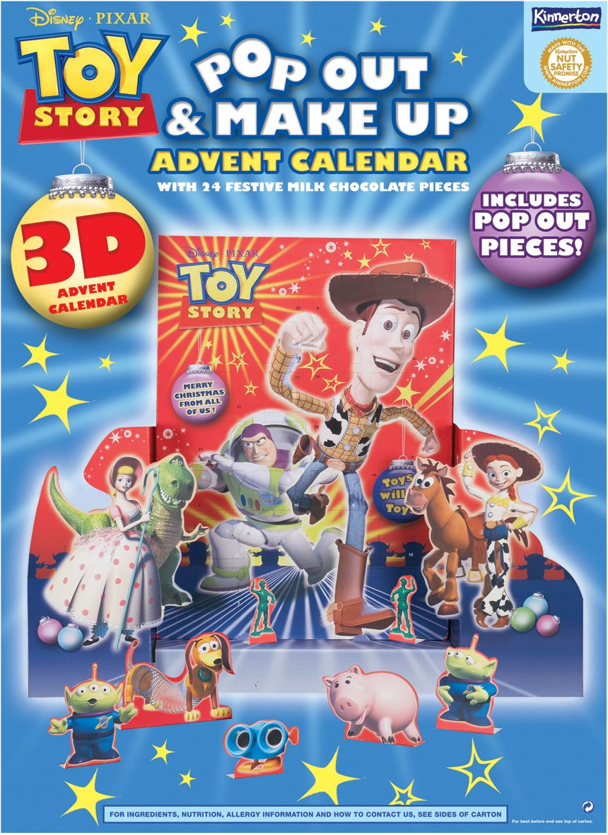 Toy story milk chocolate 3d advent calendar review Make your own 3d shapes online