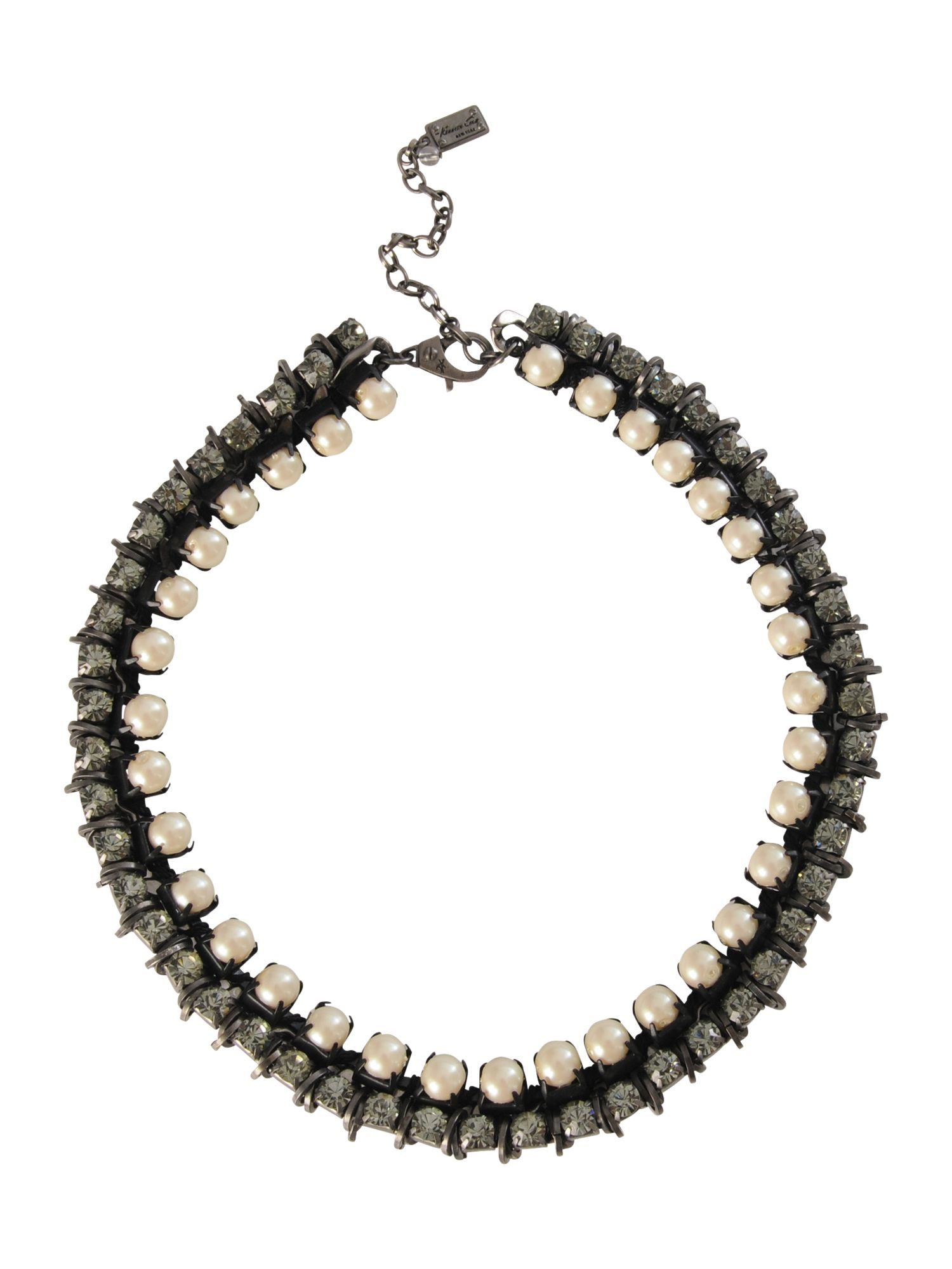 Kenneth Cole Pearl crystal necklace