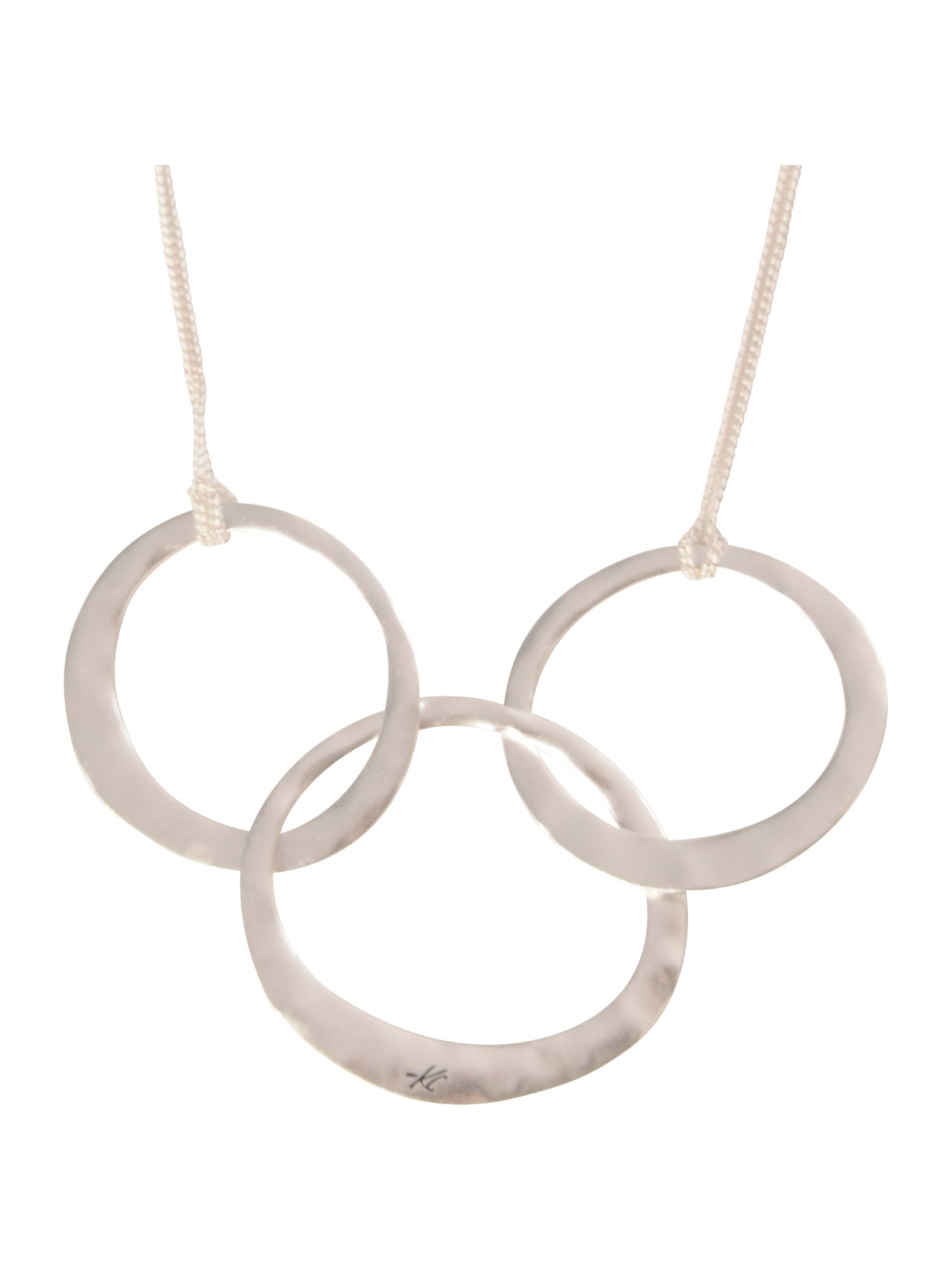 Kenneth Cole Triple hoop short necklace