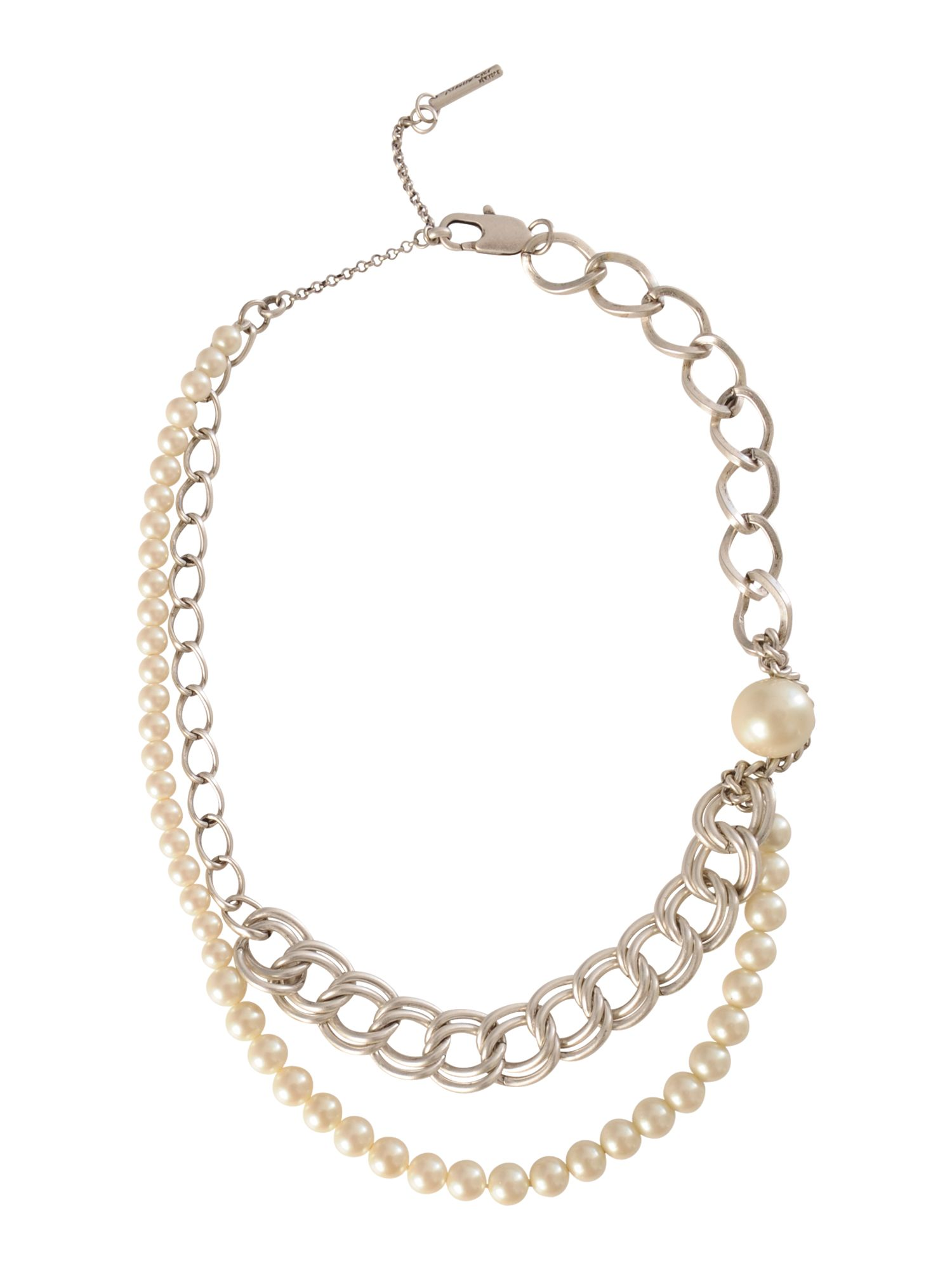 Kenneth Cole Pearl chain necklace