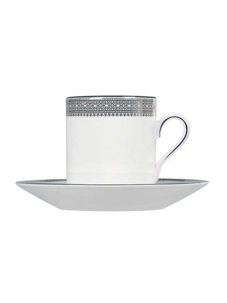 Wedgwood Lace platinum coffee saucer