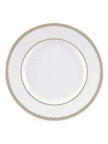 Wedgwood Vera Wang lace gold dinner plate