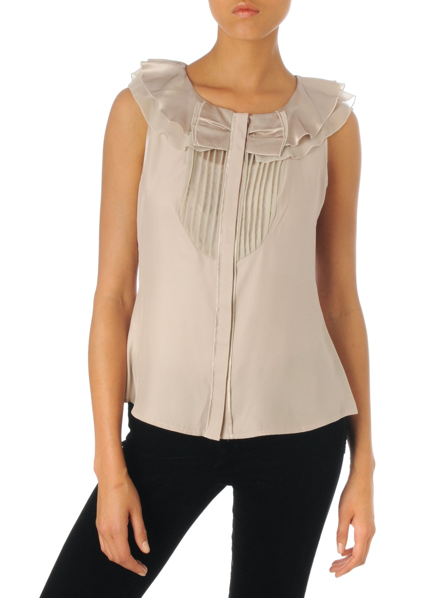 Untold Sleeveless bow front blouse - Champagne 8 product image