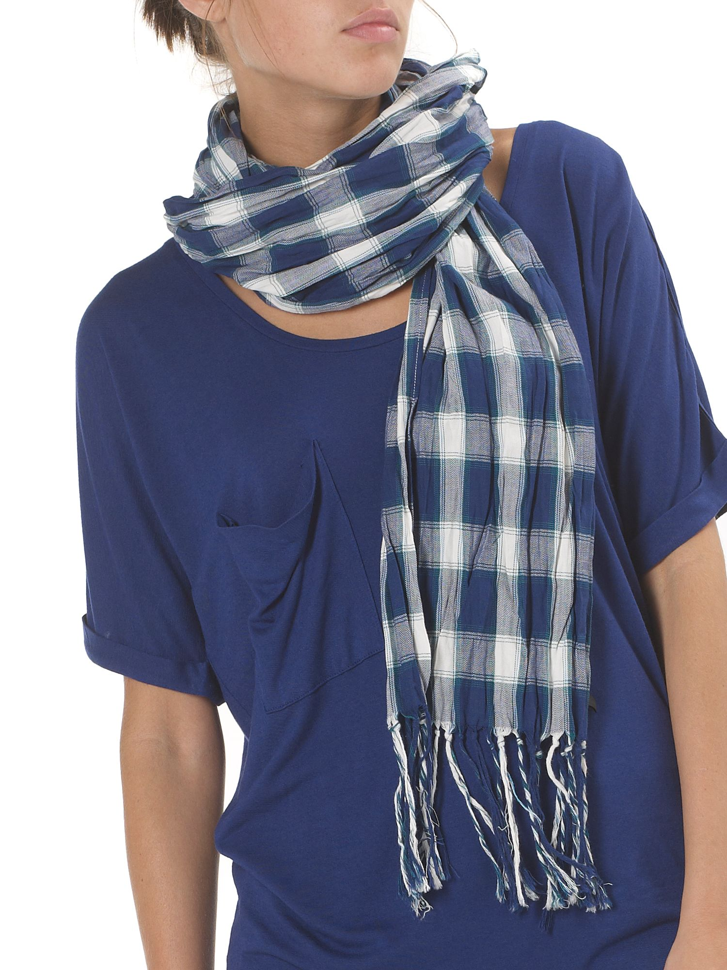 double check scarf Blue