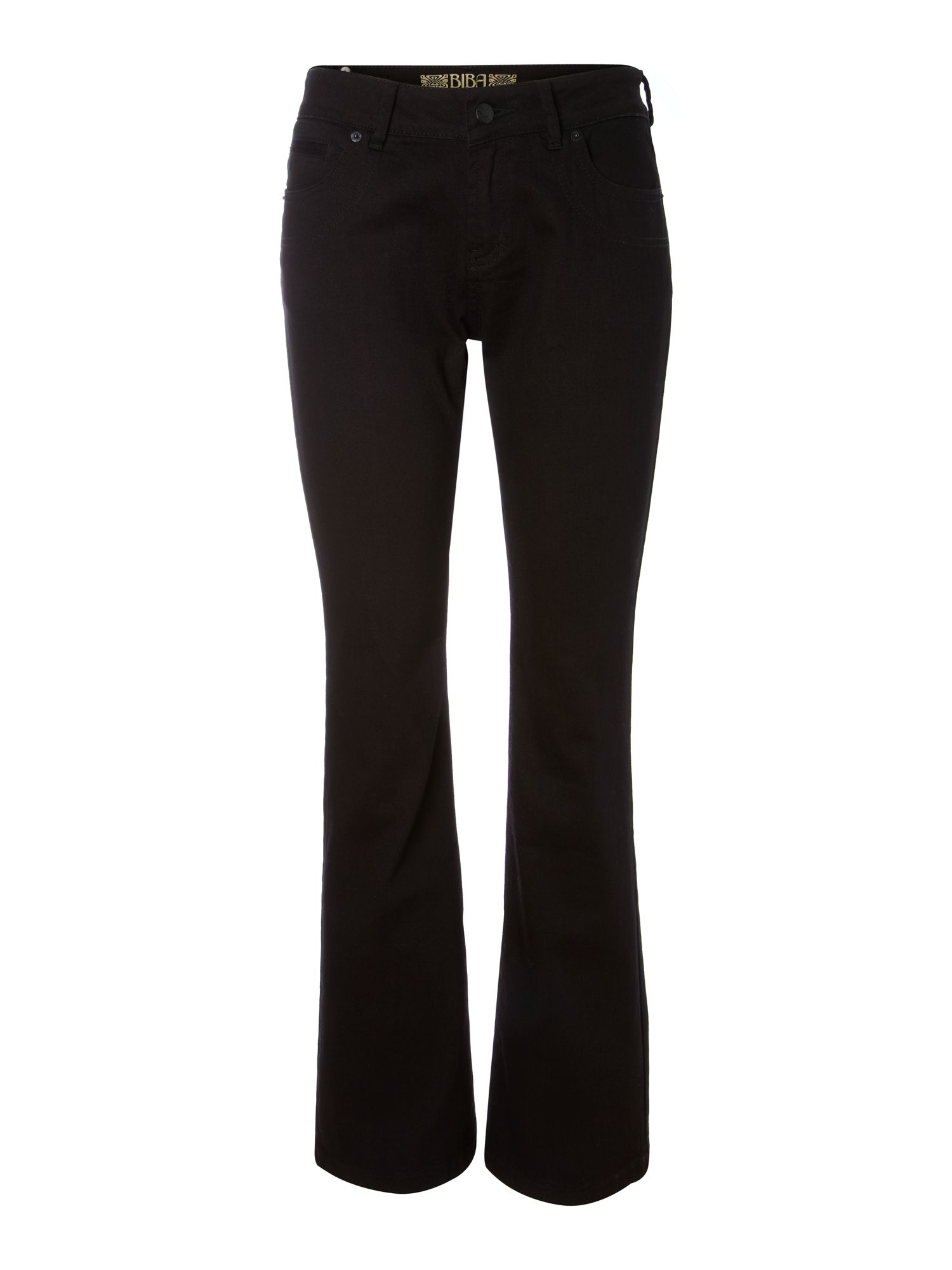 Ava slim flared black jeans